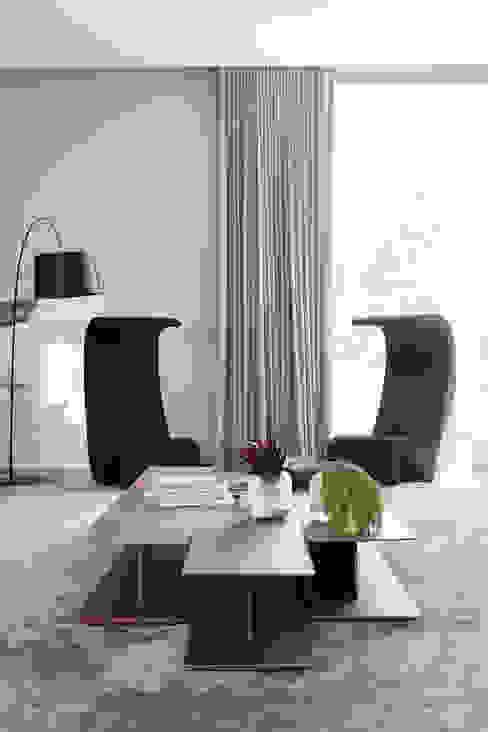 Casa em Itu: Salas de estar  por Consuelo Jorge Arquitetos