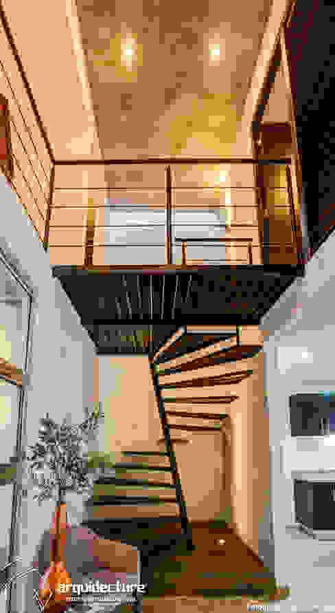 Projekty,  Korytarz, przedpokój zaprojektowane przez Grupo Arquidecture, Minimalistyczny