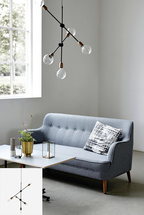 Scandinavian style living room by Muebles Capsir Scandinavian