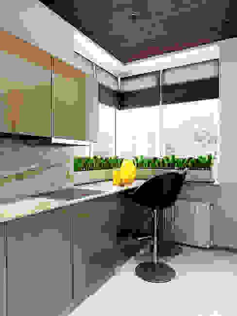 Квартира в ЖК Чемпион-парк Кухня в стиле минимализм от Михаил Новинский (MNdesign) Минимализм