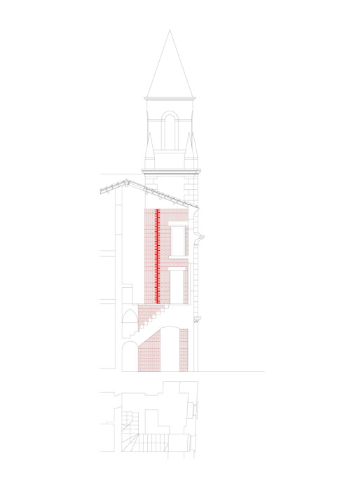 CASA A SULLE COLLINE DI VERONA Ingresso, Corridoio & Scale in stile moderno di architetti5 Moderno