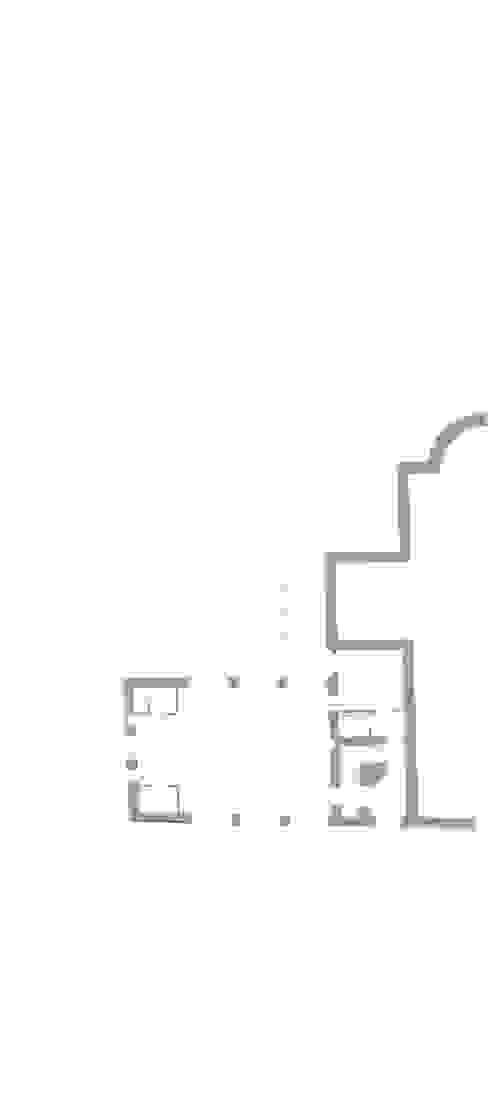 Piano terra con l'adiacente chiesa medievale e campanile Soggiorno moderno di architetti5 Moderno