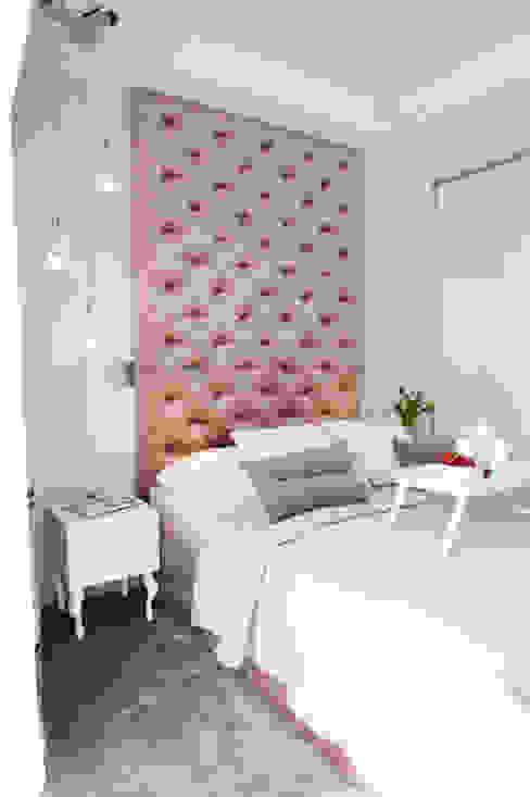 Francuska Kamienica Nowoczesna sypialnia od Arkadiusz Grzędzicki projektowanie wnętrz Nowoczesny