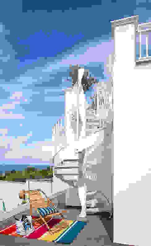 Mediterranean corridor, hallway & stairs by PDV studio di progettazione Mediterranean