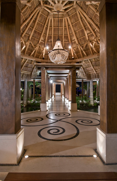 Casa Taheima. Salas de estilo tropical de BR ARQUITECTOS Tropical