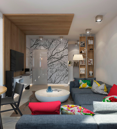 Гостиная Гостиная в стиле минимализм от tatarintsevadesign Минимализм