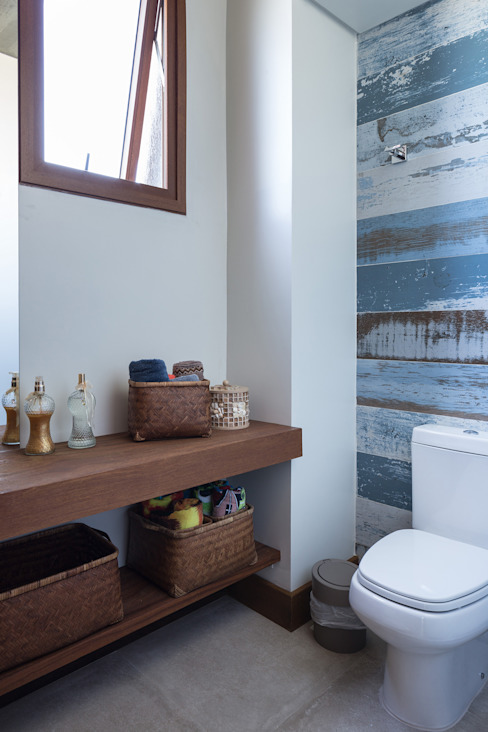 Casa Beira Mar - Seferin Arquitetura Banheiros modernos por Seferin Arquitetura Moderno