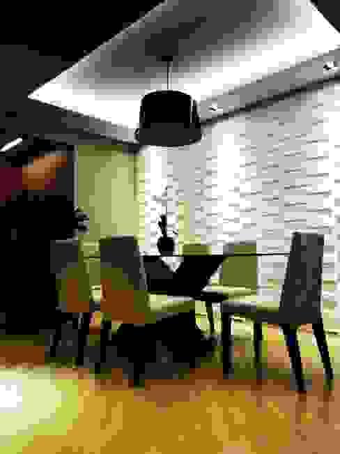 Comedores eclécticos de SPOT161 arquitetura + design Ecléctico