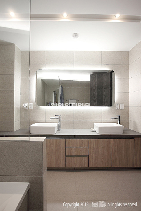 Bathroom by MID 먹줄,