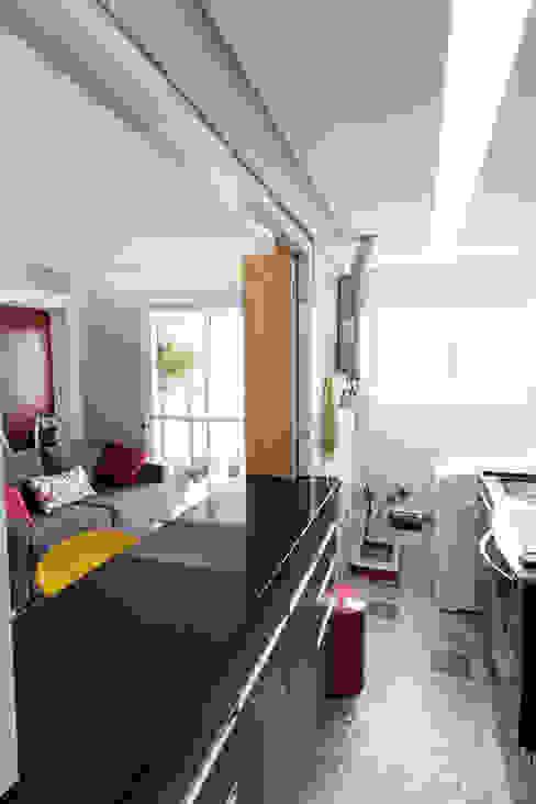 Apartamento Parque Butantã - 50m² Cozinhas minimalistas por Raphael Civille Arquitetura Minimalista