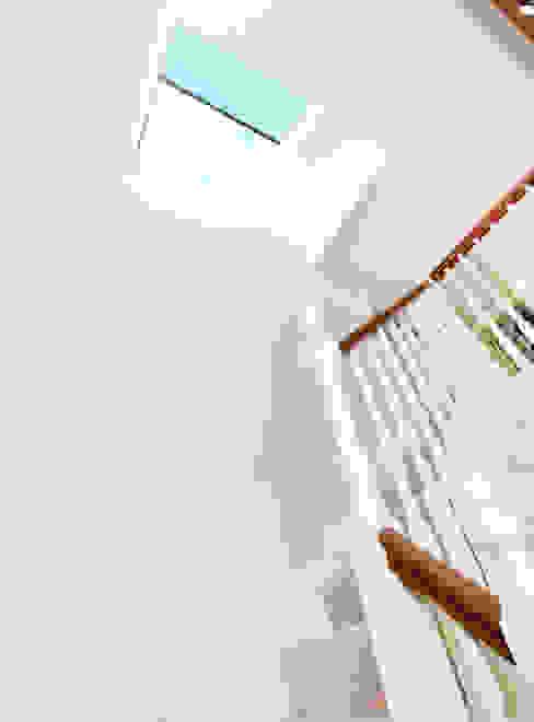 Nassau Road Modern corridor, hallway & stairs by Hamilton King Modern