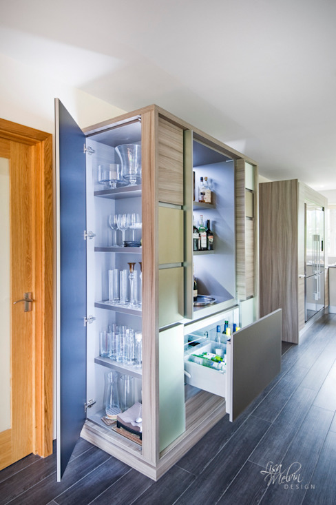 Bespoke Liquor & Drinks Cabinet Lisa Melvin Design KitchenStorage