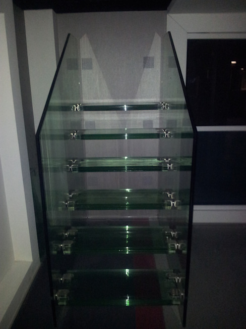 Modern corridor, hallway & stairs by dağılmaz cam sanayii Modern