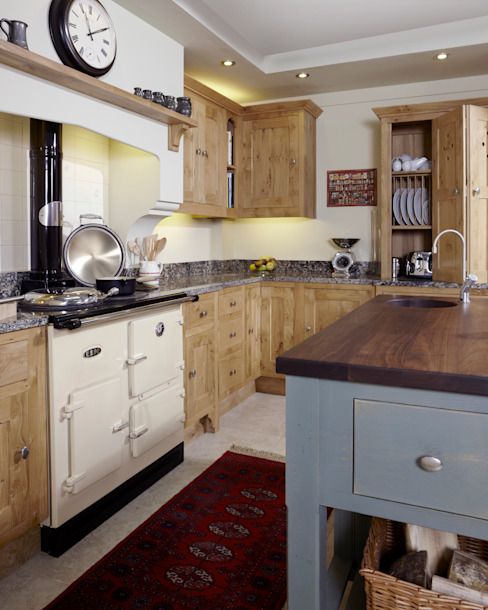 Pippy oak kitchen Wiejska kuchnia od Churchwood Design Wiejski