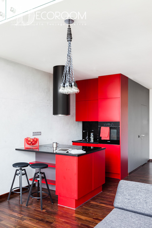 Industrial style kitchen by Pracownia Architektury Wnętrz Decoroom Industrial