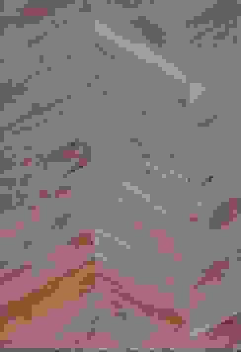 Pavimento in legno vecchio a spina di pesce di Moreno Donati Rustico
