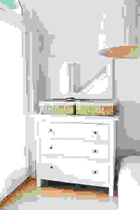 Mieszkanie na poddaszu 85m2: styl , w kategorii Sypialnia zaprojektowany przez Meblościanka Studio,Skandynawski