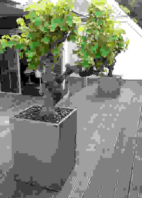 Cube Image'In aspect Zinc ATELIER SO GREEN Balcon, Veranda & Terrasse industriels