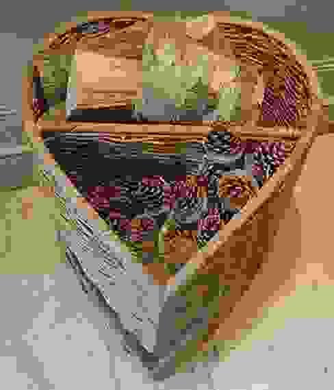 Heart Shaped Log Basket Hunter Gatherer Living roomFireplaces & accessories