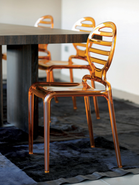 'Cooler' Translucent stackable patio chair by Scab Design par My Italian Living Moderne