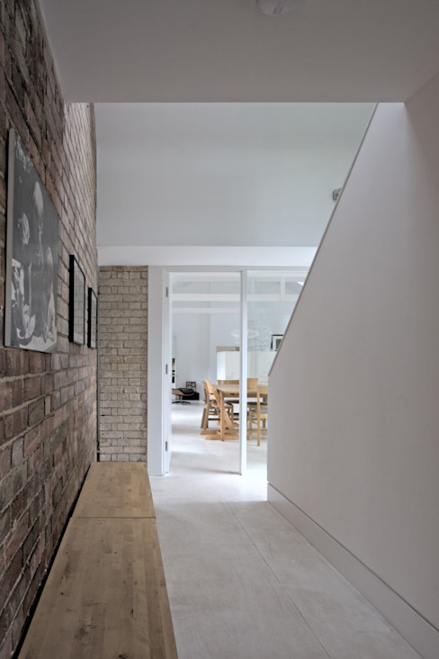 The Nook Converted Bakery Scandinavian style corridor, hallway& stairs by NRAP Architects Scandinavian