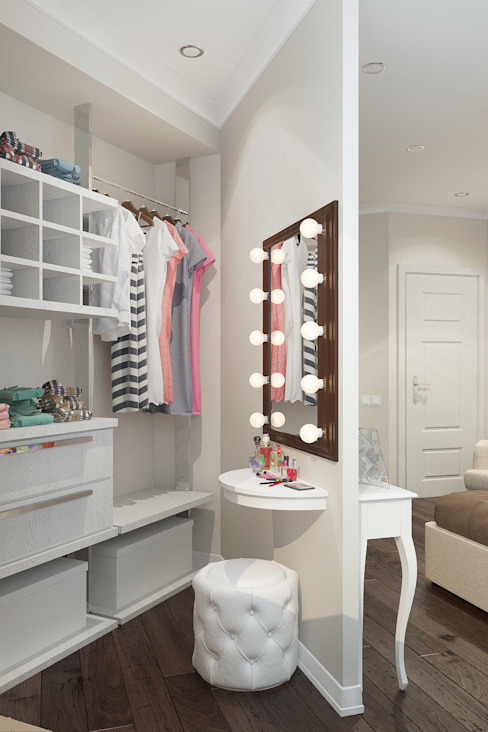 Scandinavian style dressing room by Reroom Scandinavian