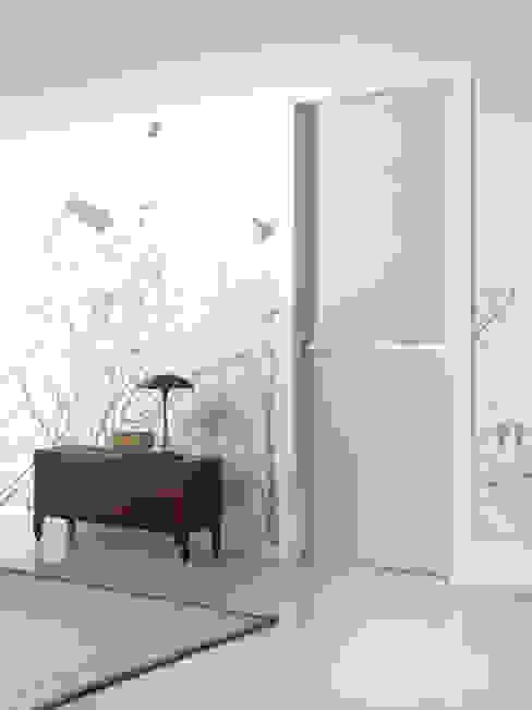 Modello Artemide - finitura laminato millerighe white di PIETRELLI PORTE Moderno
