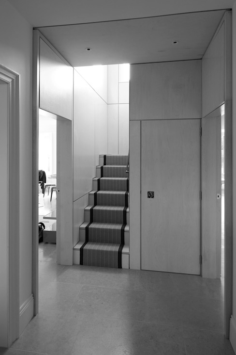 Astor House Modern Corridor, Hallway and Staircase by NRAP Architects Modern