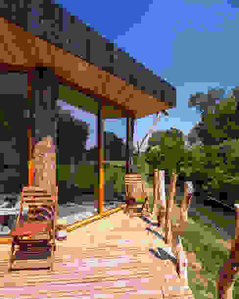 Zwarthout Shou Sugi Ban Moderner Balkon, Veranda & Terrasse