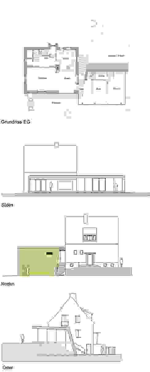 Corten Falthaus: modern  von xarchitekten,Modern