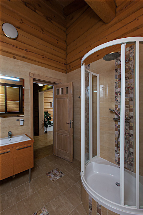 Baños de estilo rústico de Николай Карачев Rústico