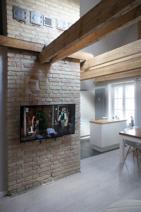 Moje mieszkanie Skandynawski salon od Anna Wrona Skandynawski
