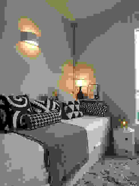 Projekty,  Sypialnia zaprojektowane przez CORTOT Architecture Interieure, Skandynawski