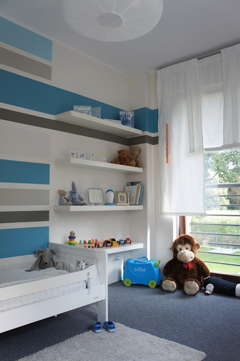 Nursery/kid's room by abostudio, Modern