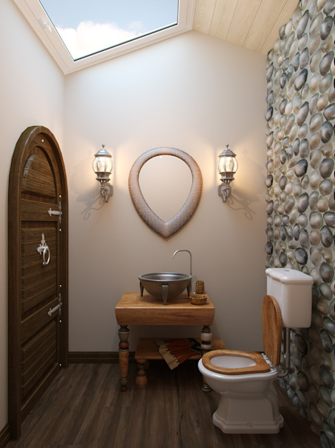 Rustic style bathrooms by Студия дизайна интерьера Маши Марченко Rustic