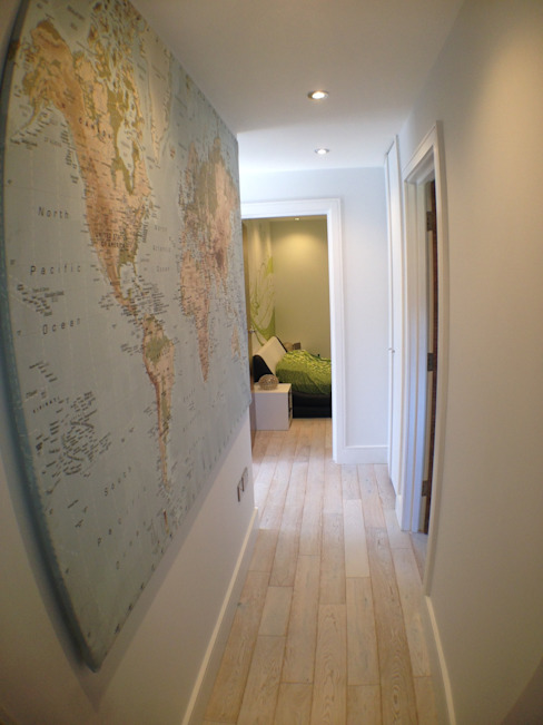 corridor Modern corridor, hallway & stairs by Progressive Design London Modern