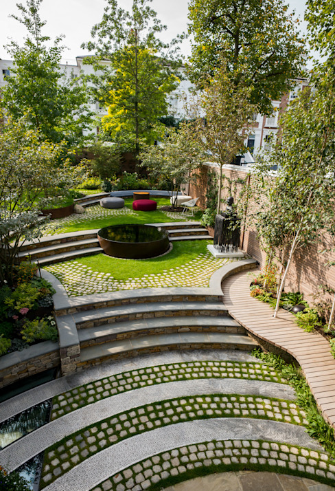 Bartholomew Landscaping design and build London Garden 根據 Bartholomew Landscaping 現代風