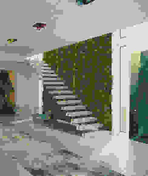 Vertical Garden Seryjny Projektant Modern corridor, hallway & stairs