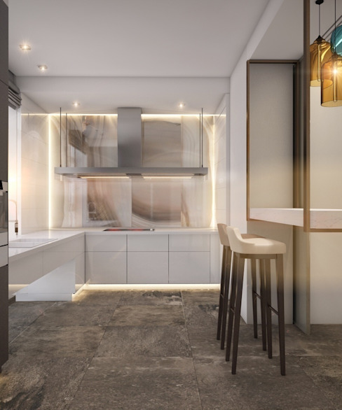 Cocinas de estilo minimalista de E_interior Minimalista