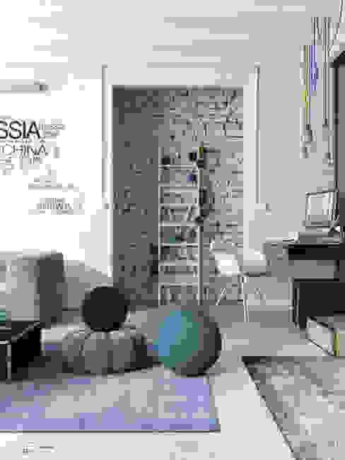 Na walizkach...: styl , w kategorii Salon zaprojektowany przez Seryjny Projektant,Industrialny