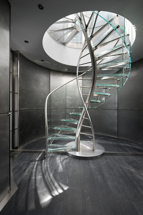 Helical Stairs Glass TWE707: modern  door EeStairs | Stairs and balustrades, Modern Glas