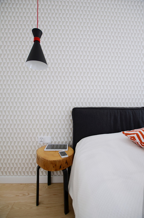 Apartament Praga : styl , w kategorii Sypialnia zaprojektowany przez Devangari Design,