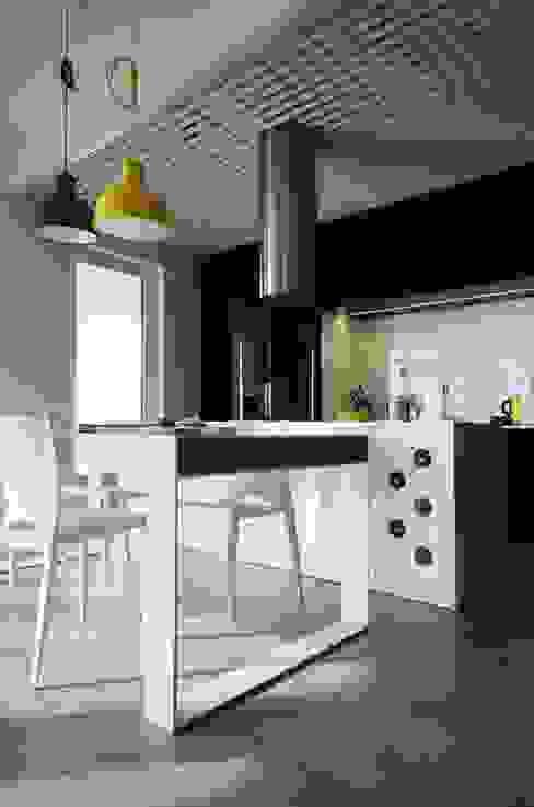 Mieszkanie Mokotów Devangari Design Skandynawska kuchnia