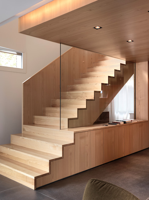 Nowoczesny korytarz, przedpokój i schody od nimmrichter architekten ETH SIA AG Nowoczesny