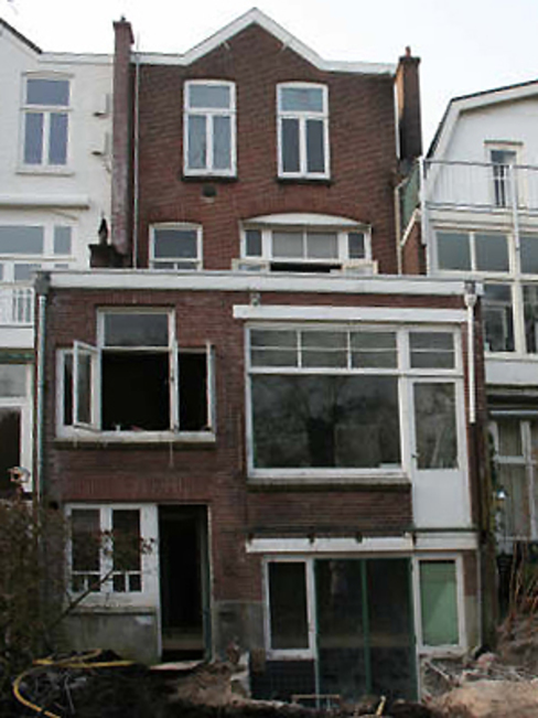 situatie voor verbouwing Moderne huizen van Boks architectuur Modern