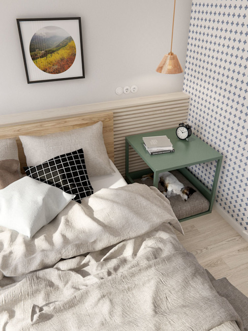 Scandinavian style bedroom by INT2architecture Scandinavian