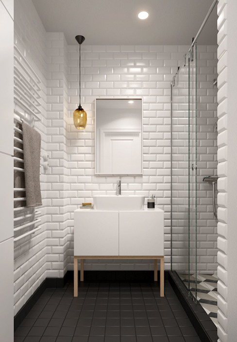 Bathroom by INT2architecture, Scandinavian
