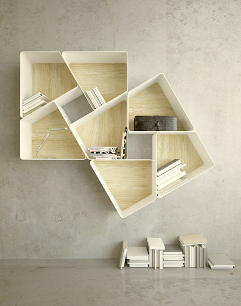 Shelves TRAP consists of 7 units that fit di KAMBIAM (NeuroDesign Furniture for People) Moderno