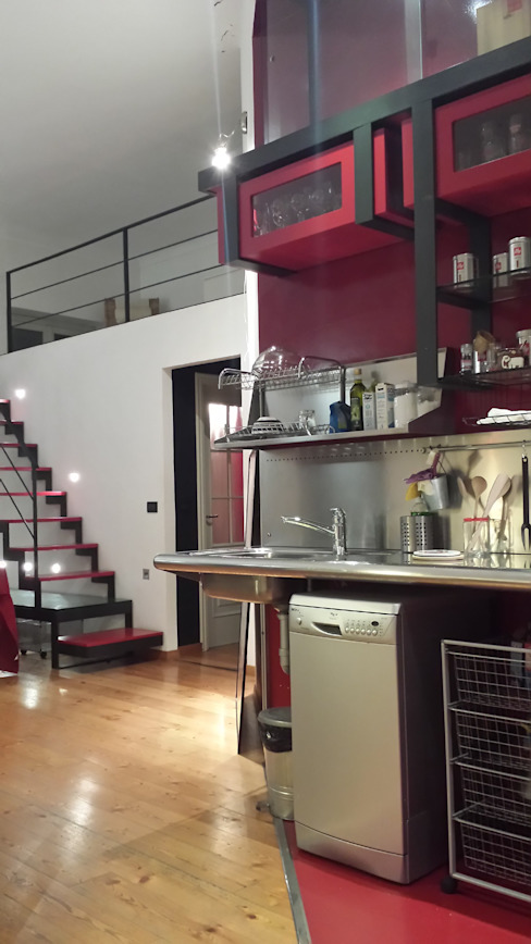 Industrial style kitchen by Simona Garufi Industrial