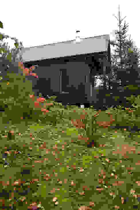 Widok z północnego zachodu, elewacja północno-zachodnia Skandynawskie domy od Magdalena Zawada Skandynawski
